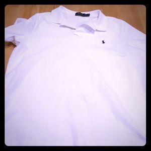 Ralph Lauren White XL Short Sleeve Polo